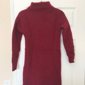 Madewell Ribbed Mock Neck Sweater Dress